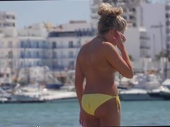 Topless beach bikini babes HD Voyeur Video
