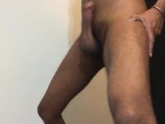 Big Black Dick Slapping Belly HARD! CUM GET YOU SOME