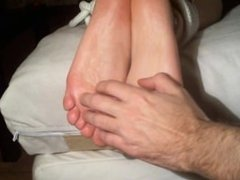 Sexy Bounded feet tickling torture