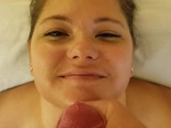 Hot amateur cocksucking for a messy facial cumshot
