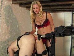 Mistress with machne