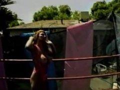big natural breasts vintage ring wrestling