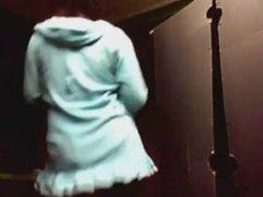 ebony granny dancing on webcam