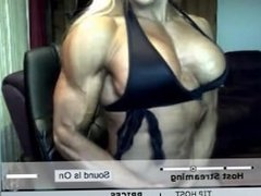milf flexing and bouncing her tits