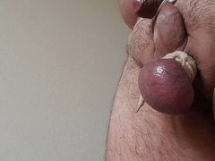 Riding crop on my balls Part 1