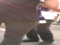 ass in tight leggings
