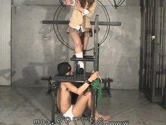 Japanese femdom gal enjoy by obedience slaves