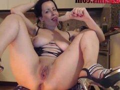 Big Titty Webcam Girl Sucks Dildo