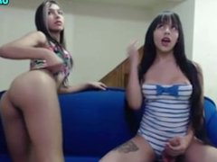 Two Unreal Shemales On Cam