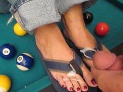 Cum on Flip Flop Feet