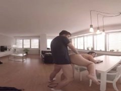 VirtualPorn360 - Chubby Girl Gets Fucked On Table