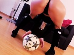 Bubble-Butt Busty Blonde Teen Messi Fan