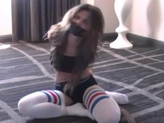 Personal trainer tied up and gagged