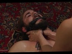 Hot Longhaired Stud Abused, Pegged, And Ridden By Hot Dominatrix
