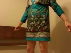 My sissy ass in wife's dress
