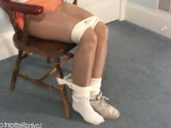 Hooters girl chair tied