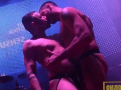 Public gay show on stage