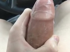 Huge cumshot in the car