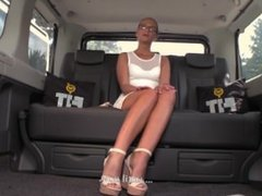FuckedInTraffic - Vinna Reed riding hard cock on the backseat of a car