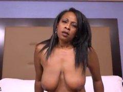 Big Tits Ebony MILF Laurie POV Casting