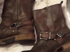 Cum on wife's gianni bini moto boots