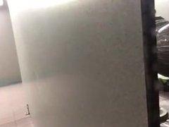 Locker room spy black man wash up...