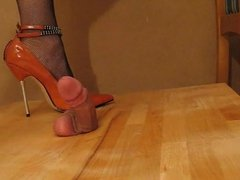 High heel cock and ball trample