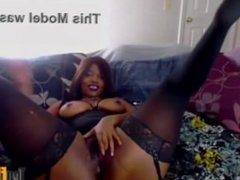 Flawless ebony princess likes huge black dildo