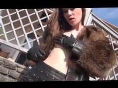 Outdoors in Fur and Leather