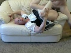 Gay sissy Mike Karacson anal fucked in a maids dress feminized