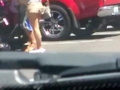 super hot teeny booty poppin in shorts twerkin. white pawg