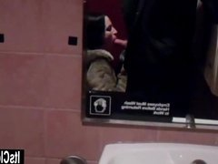 Cleo Sucks Filthy Cock in Dirty Bathroom