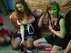 College babe jizzloaded at dorm party