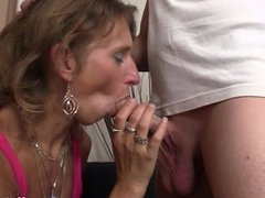 She watches motherinlaw riding his cock