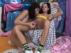 Teen shower hidden camera Hot gorgeous mates playing with a vibrator