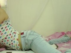 Clown girl farts