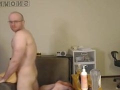 Str8 Hunk Fucks Sex Toy & Eats Cum