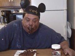 Fat guy licks anal liquor