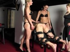FFFM 3 mistresses caning & Spanking
