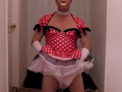 diapered sissybaby princess in pretty red dre