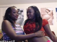 2 black girls, renae rose and her friend licking faces. This was my custom