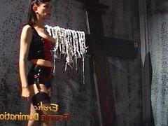 Behind the scenes footage of Natasha Sweets femdom bdsm sess