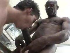 Black teacher and white boy