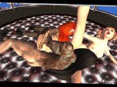 Asian and Redhead Girl - FFM -