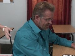 Horny blonde teacher Laura Bentley fucks student's dad - Naughty America