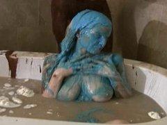 Liz and Nicole messy bath