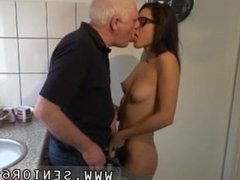 Cock jerking and old man home full length Carolina is mischievous and