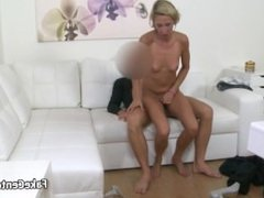 Agent fucking blonde skinny babe on casting