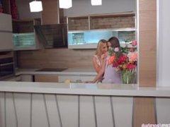 My kitchen love by Sapphic Erotica - lesbian love porn with Kiara Lord - Su