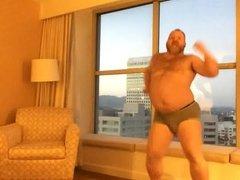 Big Bear Dancing Dangerous In His Underwear